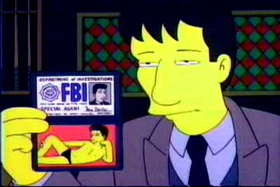 fox mulder @ the simpsons | by ~C4Chaos