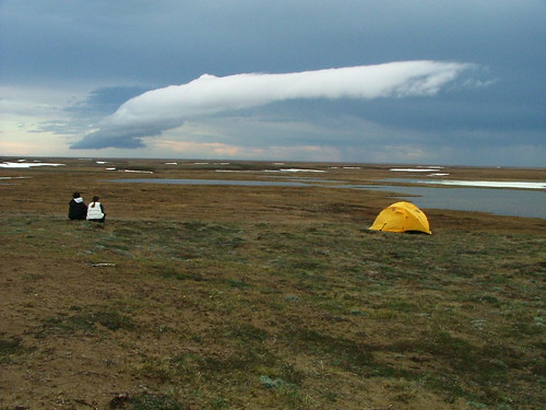 Clouds near camp, Teshekpuk Lake, 6.16.04 | by stonefeather