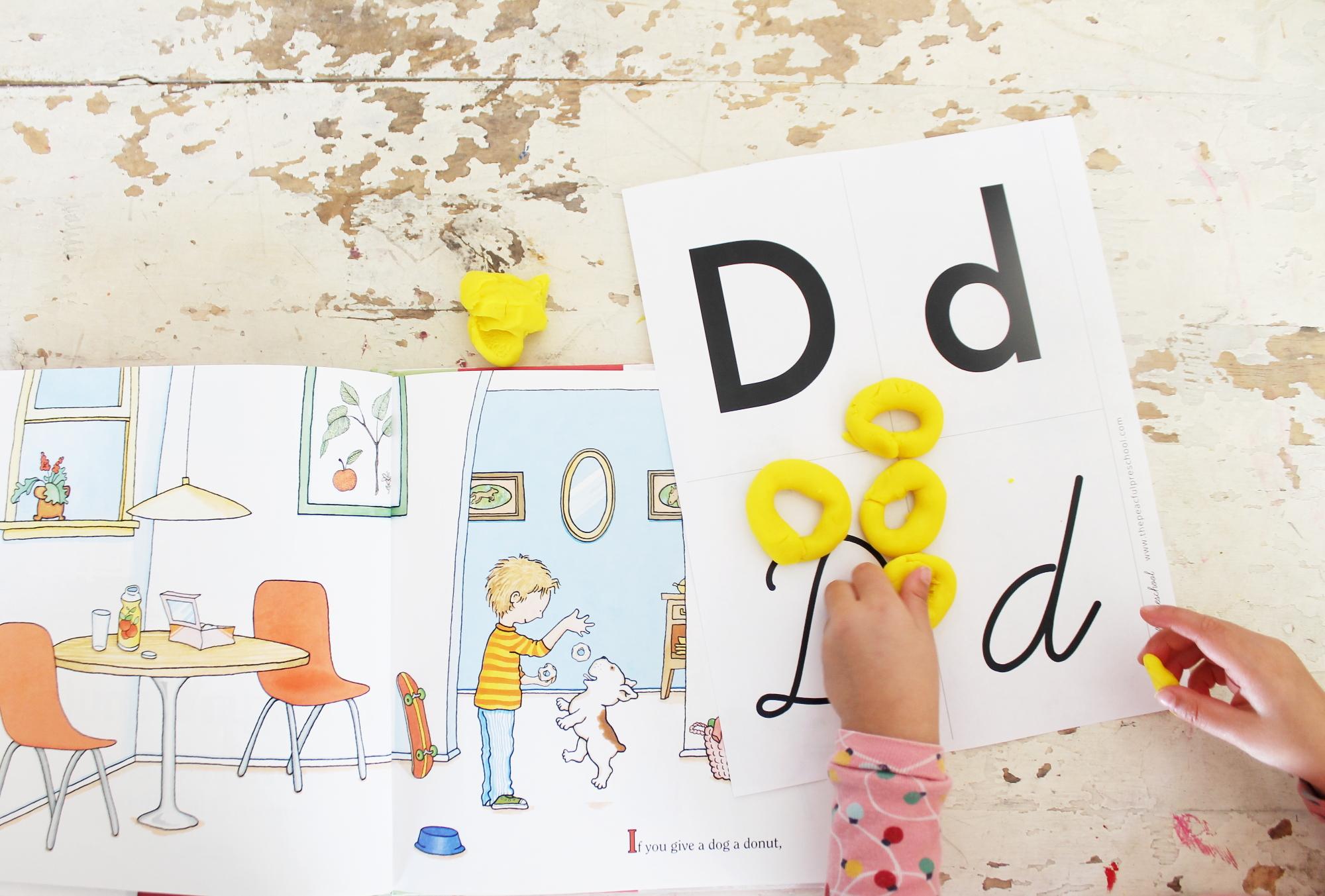 learning letter d