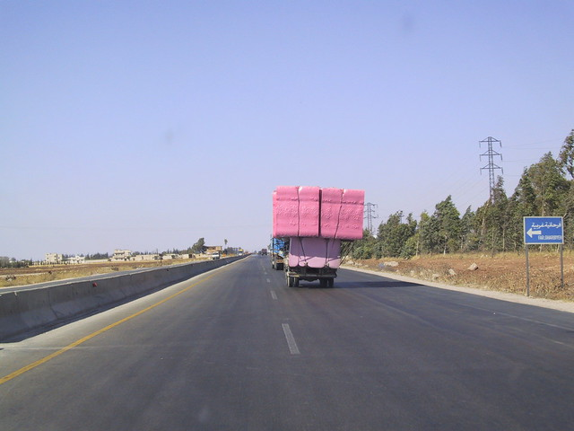 Truck transporting foam. What is the worst that could possibly happen? Lebanon