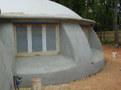 Monolithic dome home concrete home sagitta flickr for Concrete house texas