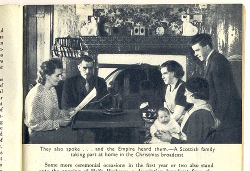 """A Scottish family taking part at home in the Christmas broadcast"" 