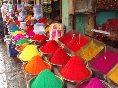 Colored spices, paint... | by Matthieu Aubry.