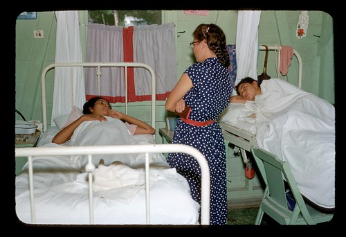 Patients in hospital beds with visitor | by t13hman
