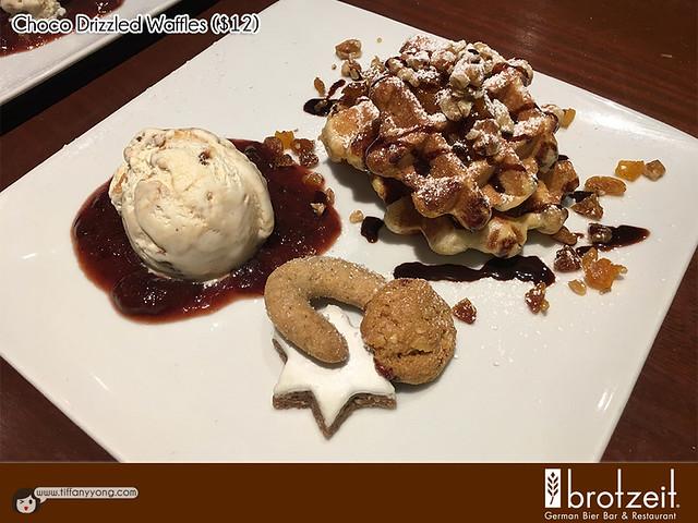 Brotzeit 2016 Christmas Choco Drizzled Waffles