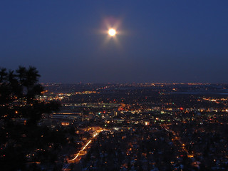 Moonrise over Boulder | by Jesse Varner