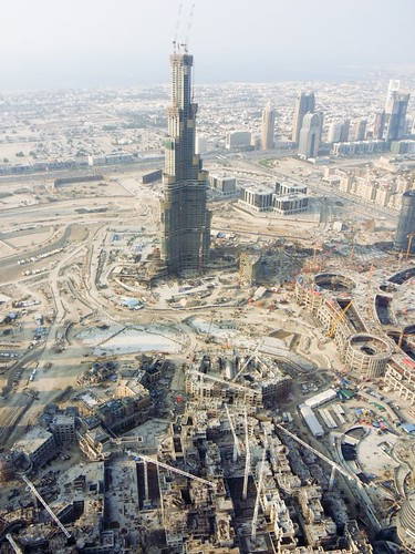 Aerial View of Burj Dubai (now Burj Khalifa) and the Mall underneath | by calajava