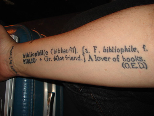 tattoo, inside of right arm | by bibliogrrl