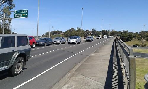 Chandler Highway bridge at Eastern Freeway