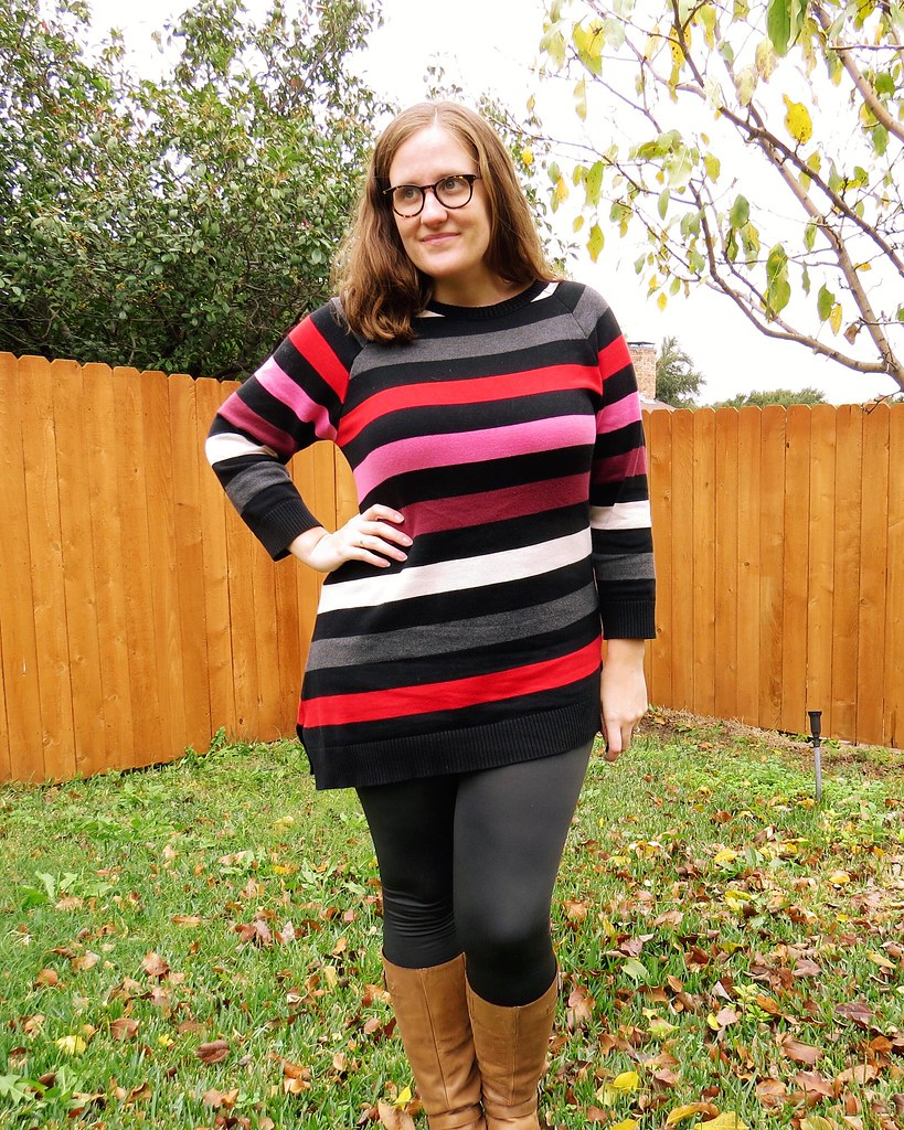 Asymmetric Striped Sweater - After