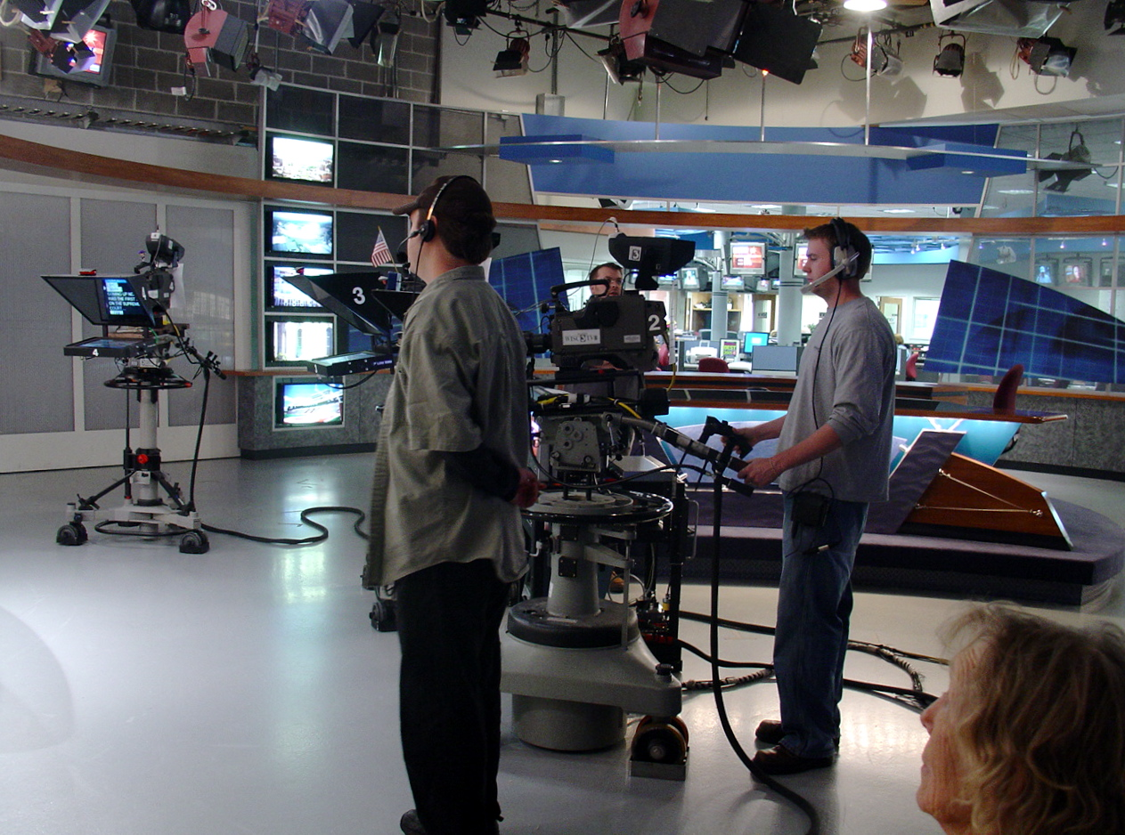 At the WISC-TV studio.