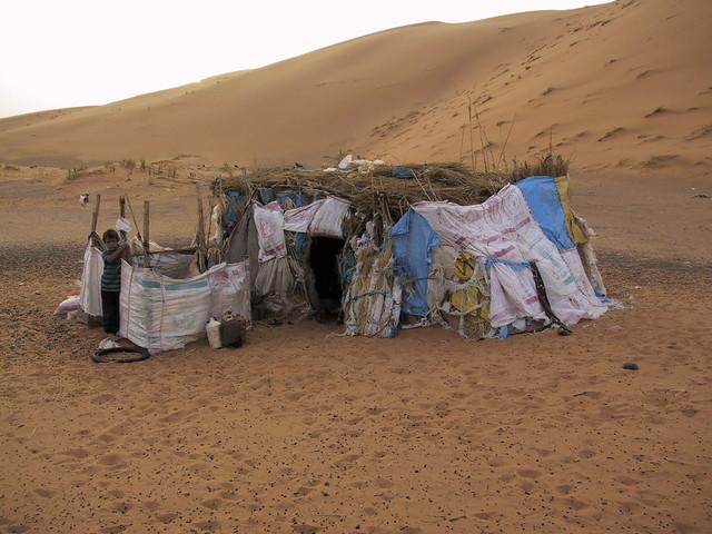 Bedoin hut in Sahara, Morocco