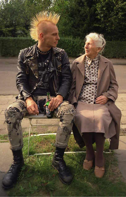 Lady with Punk Grandson II
