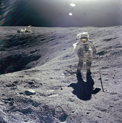 Released to Public: Apollo 16 on the Moon, April 16, 1972 (NASA) | by pingnews.com
