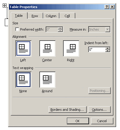 Word table properties turn off text wrapping on both for Table th word wrap