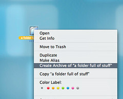 making a zip file on Mac OS X | by misterbisson