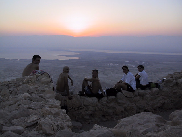 Sun rise at Mosada, Israel