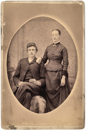 vintage portrait of victorian couple, great-great-grandparents | by David Flam