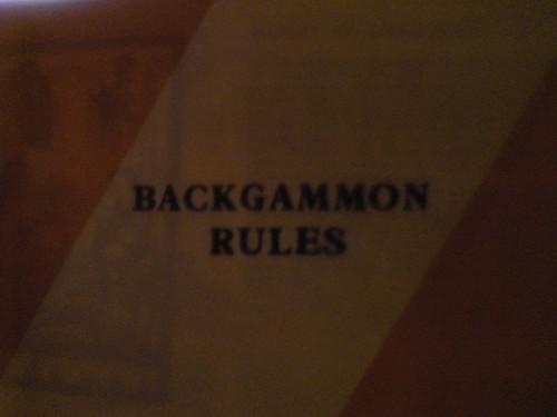 64 die backgammon rules