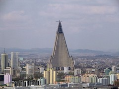 Ryugyong hotel dominating the Pyongyang skyline | by Pricey