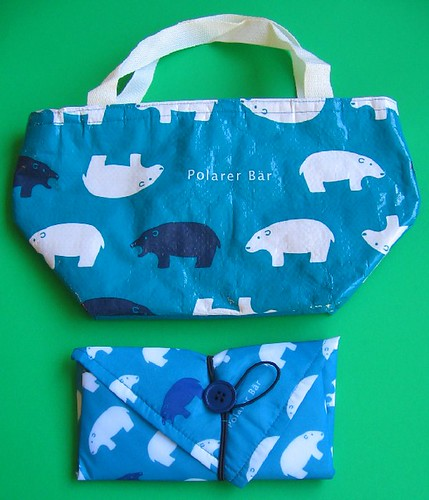 "Insulated ""Polarer Bear"" lunch cloth and bag 
