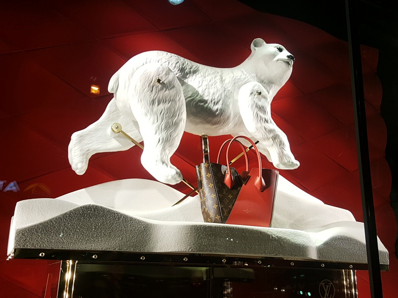 Louis Vuitton holiday window