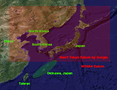 Google Map Japan and 2 Datums | by earthhopper