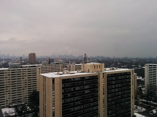 Skyline with winter fog #toronto #skyline #winter #fog