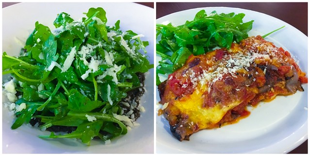 Fratello Rocket Leaf Salad + Grilled Eggplant with Parmesan Cheese