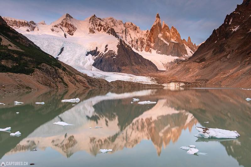 Morning at the Laguna Torre - El Chalten