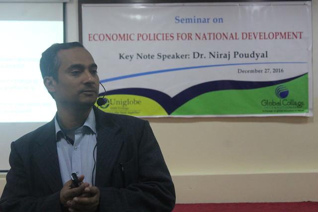 Seminar on Economic Policies for National Development_Speaker Dr. Niraj Poud_27 Dec 2016