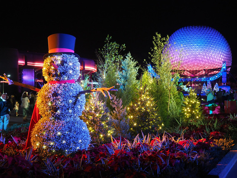 Epcot at the holidays