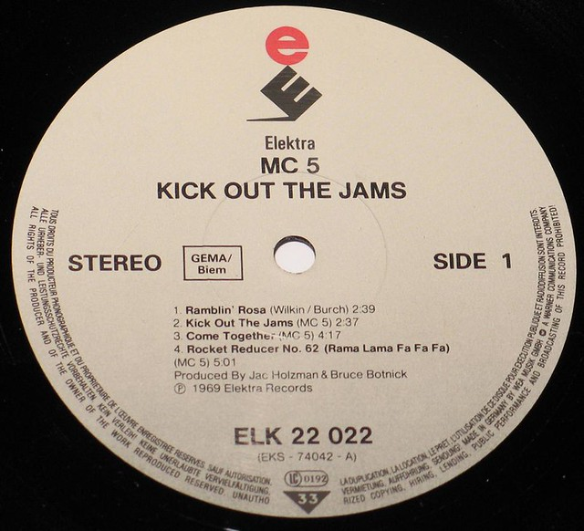 "MC5 Kick Out The Jams 12"" vinyl LP"