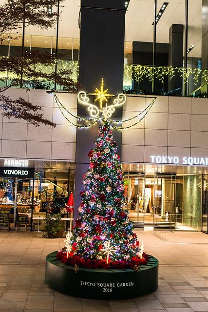東京スクエアガーデンのクリスマスツリーの写真