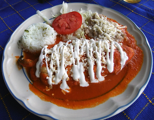 Chiles Rellenos in San Sebastian, a Pueblo Magico in the state of Jalisco, Mexico