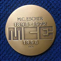 1998 M.C. Escher Medal reverse
