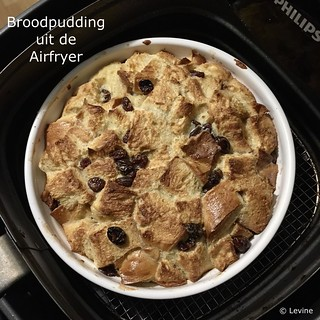 Broodpudding uit de Airfryer