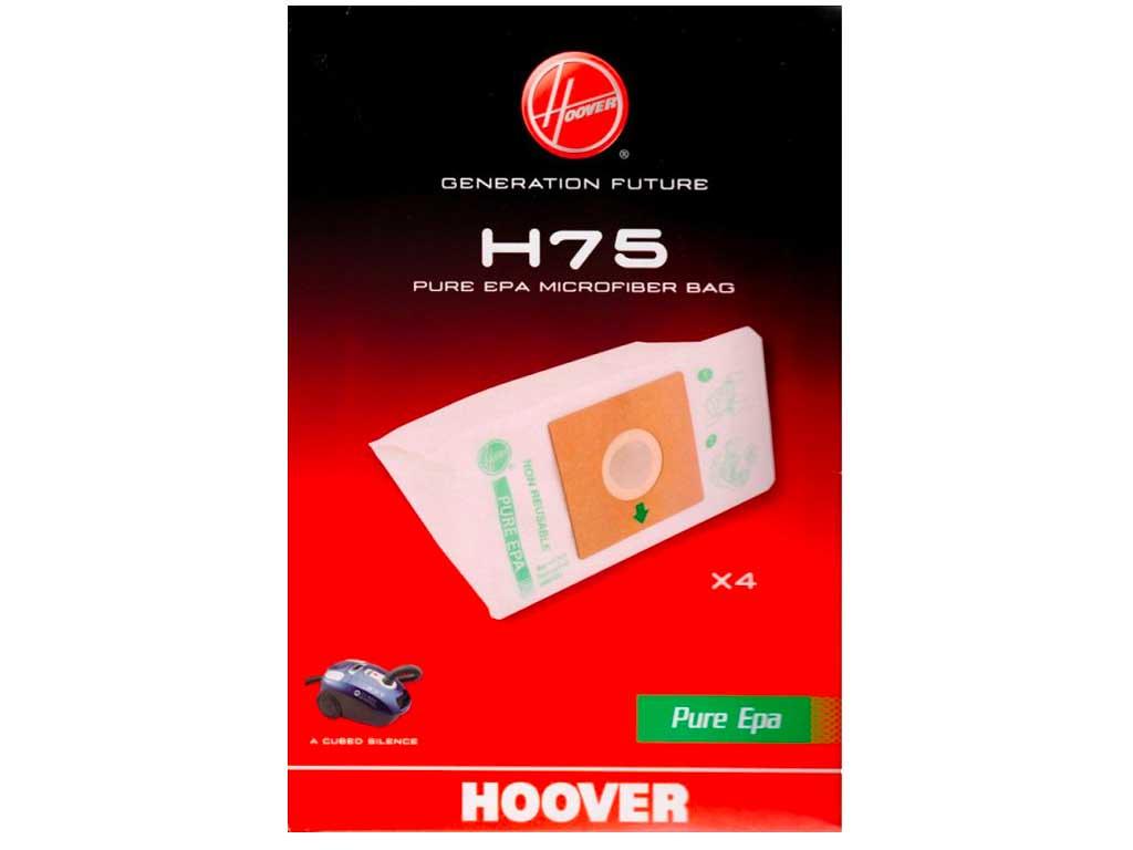 Cubed Silence Originali 2 Confezioni H75-4 Sacchetti Hoover Thunder Space