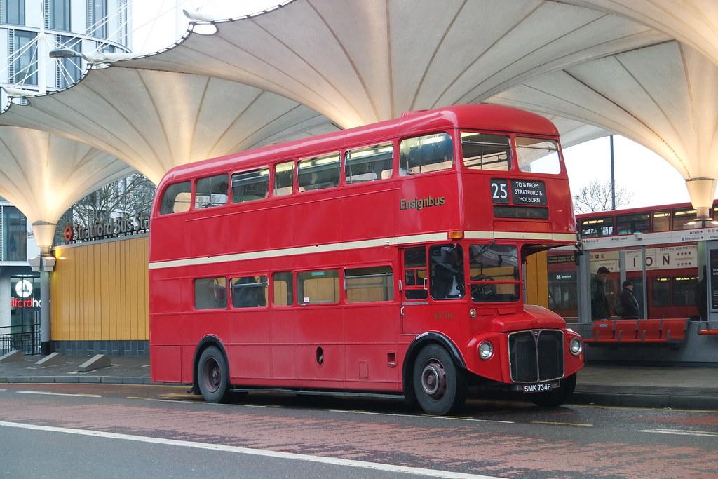 (Tube Strike Extras) EnsignBus AEC Routemaster SMK734F RML2734 on Route 25