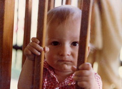 Jimmy @ age 1 in playpen | by Skip Hansen