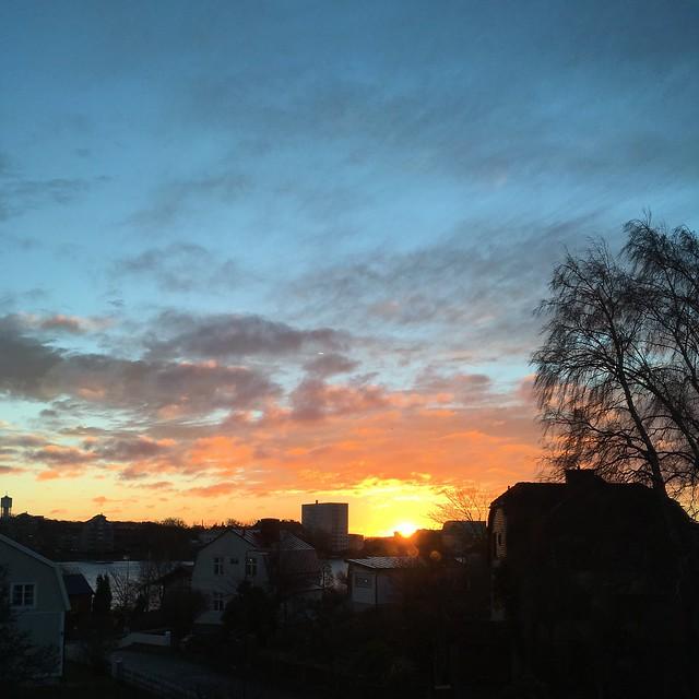 tuesday, sunrise, karlskrona