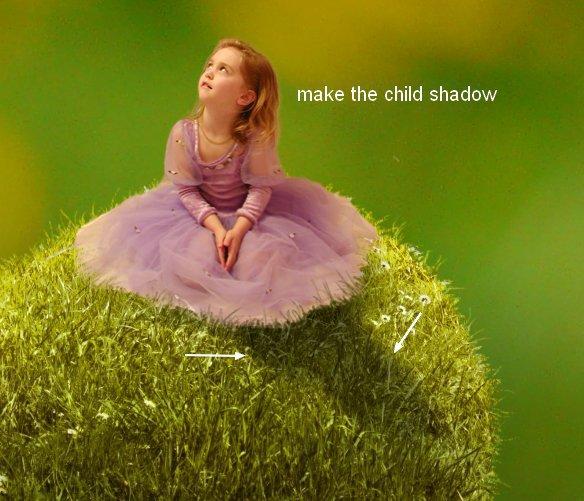 Сюрреалистическая улитка с травяной раковиной в Фотошоп