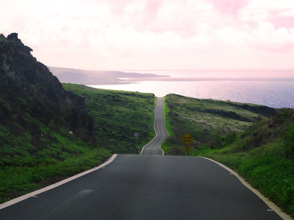 La route sinueuse du sud de l'île de Maui, Hawaï
