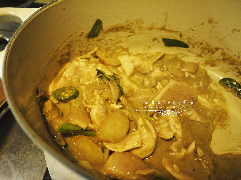 孤身廚房-滿滿新鮮香料版的泰式綠咖哩雞17