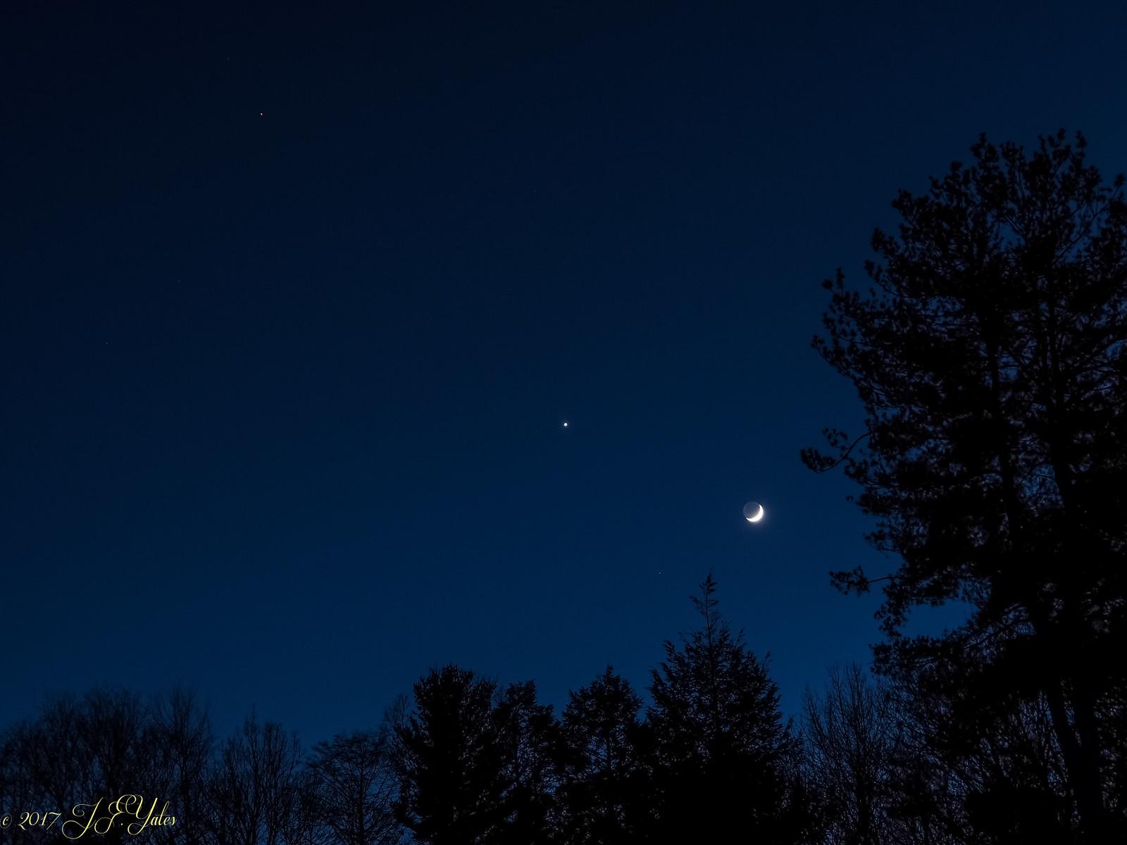 Moon Venus Mars 1/1/2017