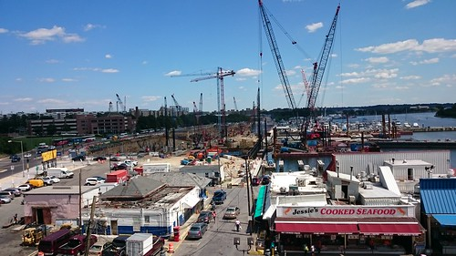 Cranes at the Wharf, 22 July