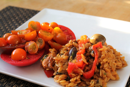Greek Oregano Chicken and Orzo with Tomatoes in Garlic Oil | by Tom ...
