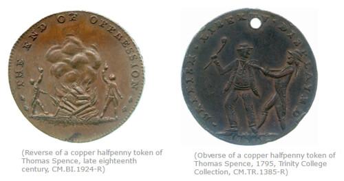 Spence halfpenny tokens