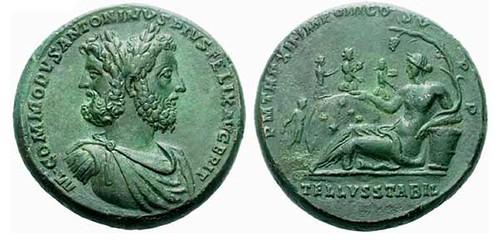 Mad Commodus bronze medallion
