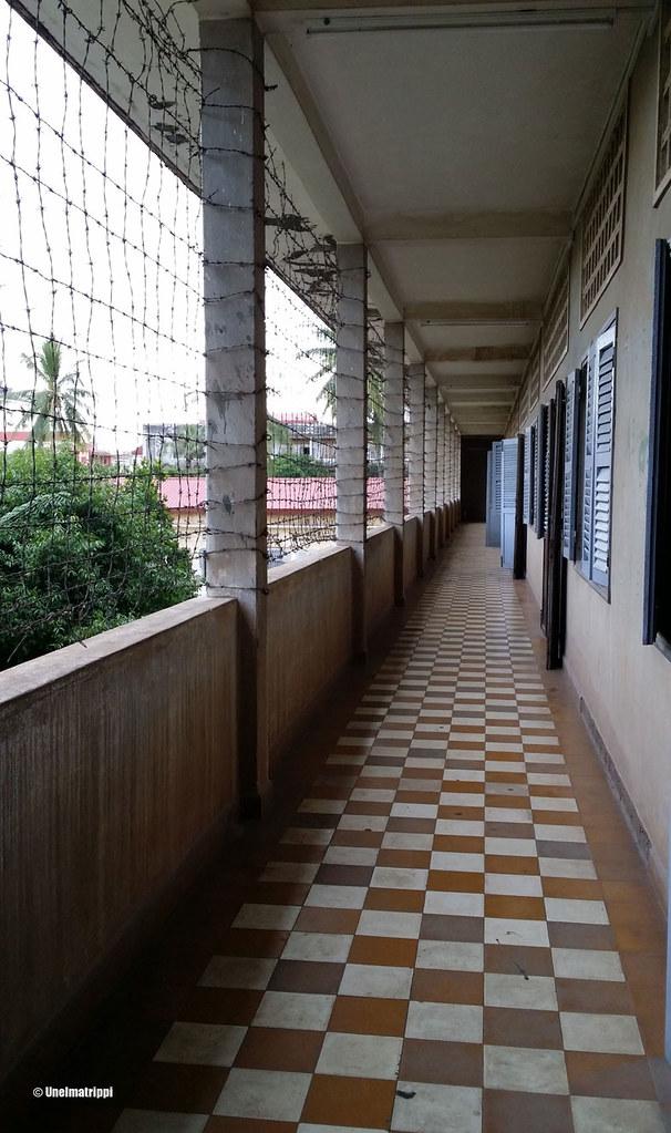 Sellikäytävä, Tuol Sleng, Phnom Penh, Kambodza